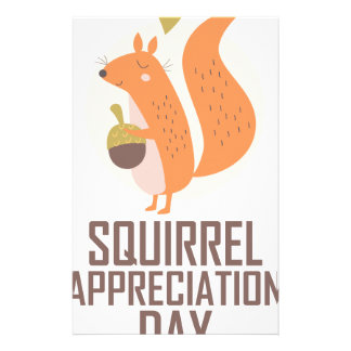 January 21st - Squirrel Appreciation Day Stationery