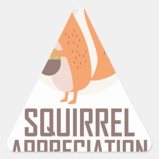 January 21st - Squirrel Appreciation Day Triangle Sticker