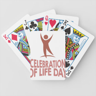 January 22nd - Celebration Of Life Day Bicycle Playing Cards