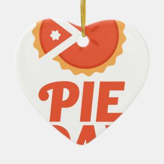 January 23rd - Pie Day - Appreciation Day Ceramic Heart Ornament