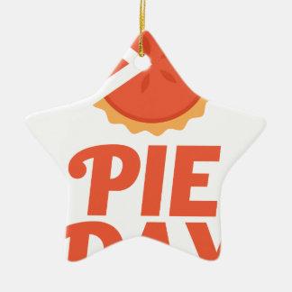 January 23rd - Pie Day - Appreciation Day Ceramic Star Ornament