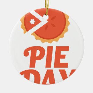 January 23rd - Pie Day - Appreciation Day Round Ceramic Ornament