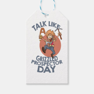 January 24th - Talk Like A Grizzled Prospector Day Pack Of Gift Tags