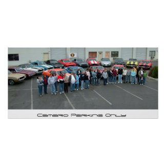 January Bakersfield Camaro Club Meeting Poster