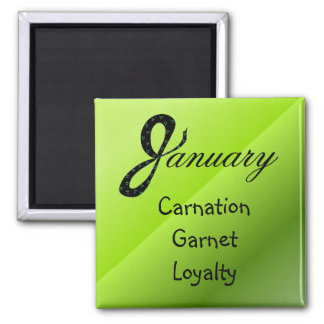 January Birthday Meaning Magnet