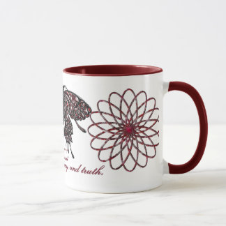 January Birthstone Butterfly Mug