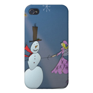 January Fairy with Snowman Case For iPhone 4