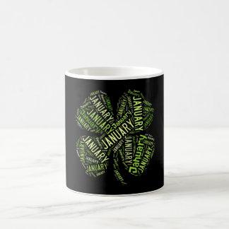 January Four Leaf Clover Coffee Mug