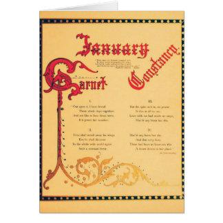 January Garnet Card