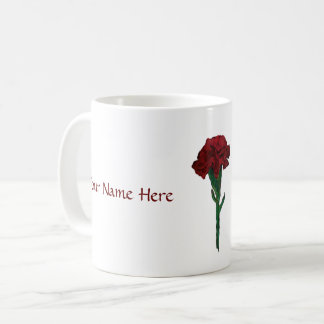 January: Garnet Carnation Personalized Mug