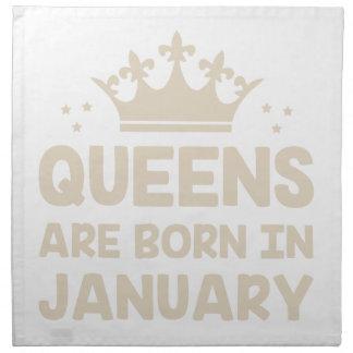 January Queen Napkin