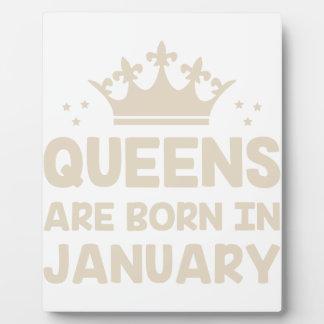 January Queen Plaque