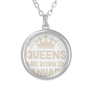 January Queen Silver Plated Necklace