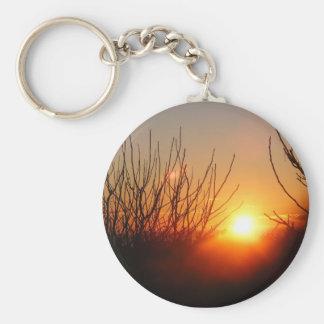 January Sunrise Basic Round Button Keychain