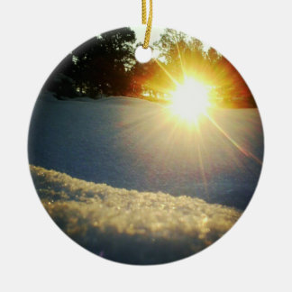 January Sunset Ceramic Ornament