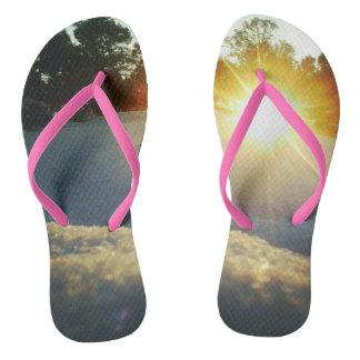 January Sunset Flip Flops