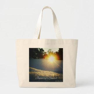 January Sunset Large Tote Bag