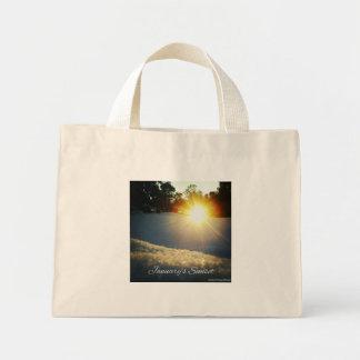 January Sunset Mini Tote Bag