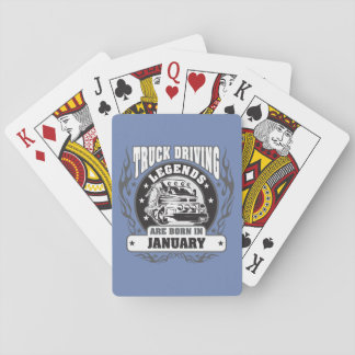 January Truck Driving Legends Playing Cards