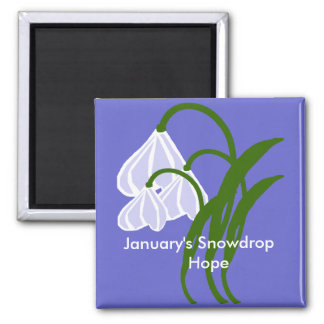 January's Snowdrop    Hope magnet