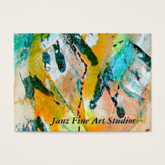 Janz Fine Art Studios Business Card