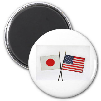 JAPAN AMERICAN FLAG MAGNET