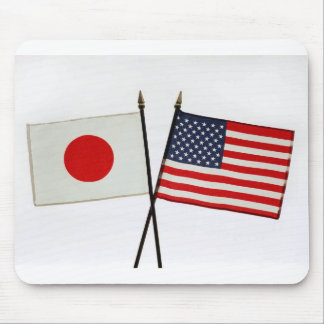 JAPAN AMERICAN FLAG MOUSE PAD