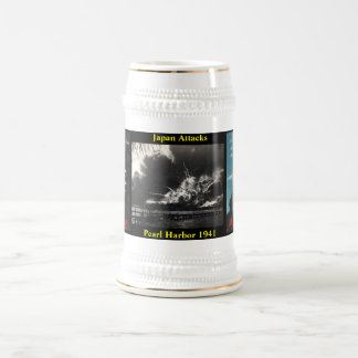 Japan Attacks Pearl Harbor Beer Stein