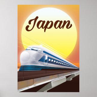 Japan Bullet Train travel poster