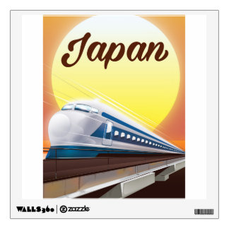 Japan Bullet Train travel poster Wall Decal