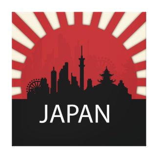 Japan Cool Silhouette Illustration Canvas Print