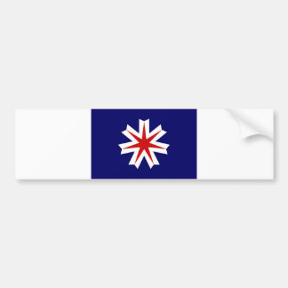 japan country region flag prefecture hokkaido bumper sticker