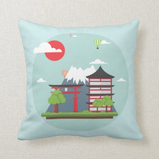 Japan Dreaming Throw Pillow