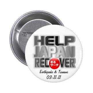 Japan Earthquake Tsunami Relief 2 Inch Round Button