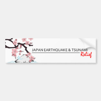*Japan Earthquake/Tsunami Relief * bumper sticker