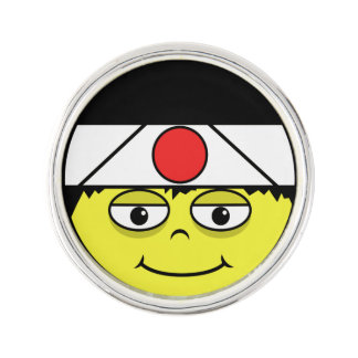 Japan Face Lapel Pin