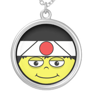 Japan Face Silver Plated Necklace