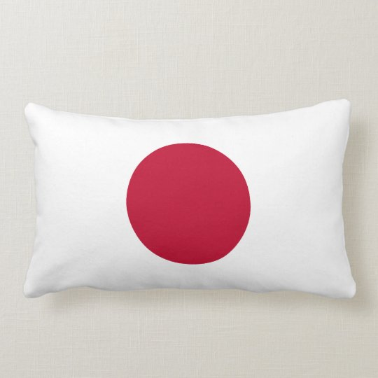 Japan Flag American MoJo Lumbar Pillow