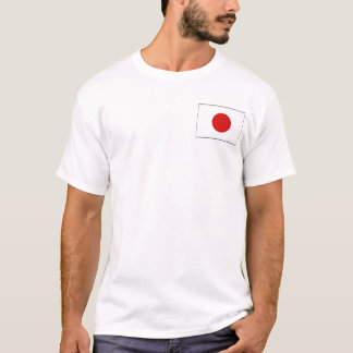 Japan Flag and Map T-Shirt