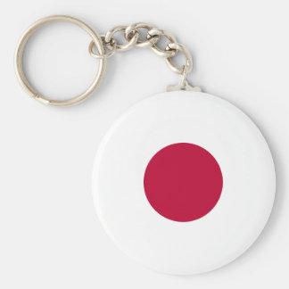 Japan Flag Button Keychain