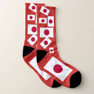 Japan Flag Colorful Socks 1