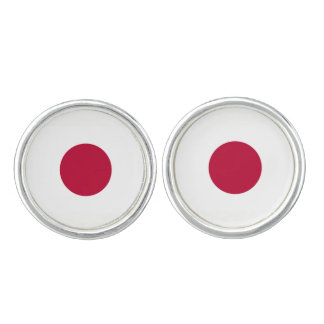 Japan Flag Cuff Links