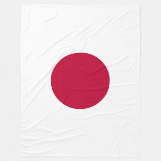 Japan Flag Fleece Blanket
