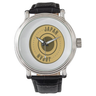 Japan Flag Gold Coin Watch