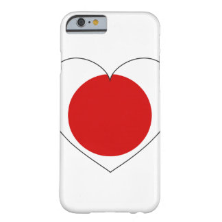 Japan Flag Heart Barely There iPhone 6 Case