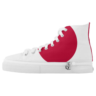 Japan Flag High Top Shoes