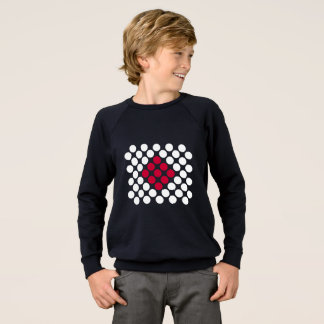 Japan Flag minimalist dots kid's sweatshirt