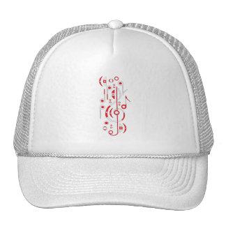Japan Flag Music Notes Trucker Hat