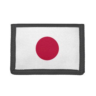 Japan Flag TriFold Nylon Wallet
