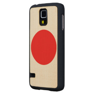 Japan Flag Carved® Maple Galaxy S5 Case